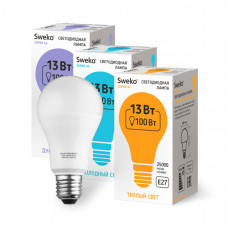 Лампа   Sweko A60 LED (13W) 220V/3000K/E27