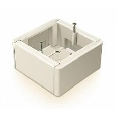 Коробка  универ. ОП 88*88*44 д/наружн.монт. с каб-каналом, белая, GE40231-1