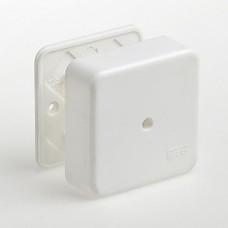 Коробка  универ. ОП 80*80*25мм, квадрат для каб.канала, ТУСО, 65005 (1/6)