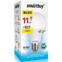 Лампа  Smartbuy  A60 LED (11W) 220V/3000К/E27 (1/10)