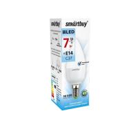 Лампа  Smartbuy Свеча С37 LED  (7W) 220V/4000К/Е14
