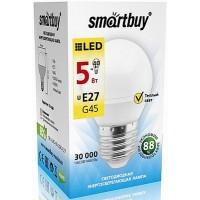 Лампа  Smartbuy Шар G45 LED (5W) 220V/3000К/E27