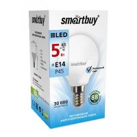 Лампа  Smartbuy Шар G45 LED (5W) 220V/4000К/E14