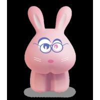 Светильник настольный ФАZА Кролик Фролик розовый, LED, 220В/акк