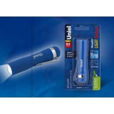 Фонарь Uniel пластиковый, 0,5W LED, 1*АА, голубой, 1*BL, S-LD045-B