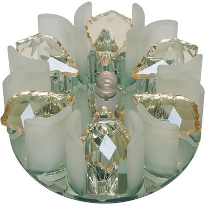 DLS-F120 зеркальный/прозрачный, с элементами цвета шампань, без лампы, G4, 10638