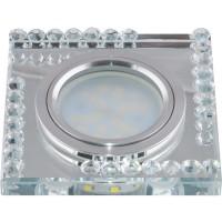 DLS-L101 цвет хром, отделка стекло прозрачный, с св.подс. 3Вт, GU5.3, 09998