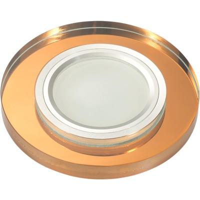 DLS-L106 цвет хром, отделка стекло бронза, с св.подс. 3Вт, GU5.3, UL-00000357
