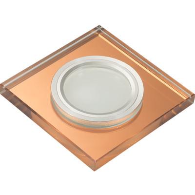 DLS-L107 цвет хром, отделка стекло бронза, с св.подс. 3Вт, GU5.3, UL-00000358
