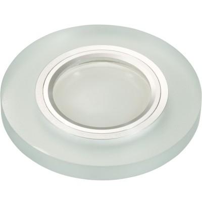 DLS-L112 хром, матовое стекло, цвет прозрачный, с св.подс. 3Вт, GU5.3, UL- 00000365