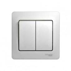 Выключатель Schneider Electric GLOSSA GSL000152 сх.5 в сборе с рамкой, бел, 2кл. (10/180)