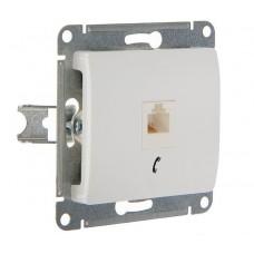 Розетка  тел. Schneider Electric GLOSSA GSL000181Т RJ11 механизм бел.