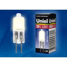 Лампа   Uniel  JCD 220V/20W/G4, прозрачная