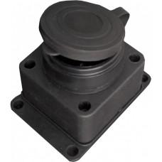 Розетка настенная с заглушкой с/з ОУ каучук, 16А, TDM SQ0612-0003