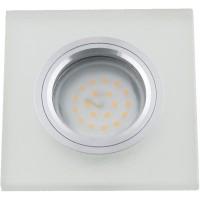 DLS-L113 хром, матовое стекло, цвет прозрачный, с св.подс. 3Вт, GU5.3, UL- 00000366