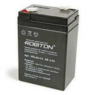 Аккумулятор  Robiton для фонаря VRLA6V-4.5