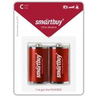 Батарейка Smartbuy  LR14 2*BL, (2/12/192), SBBA-C02B