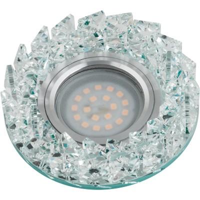 DLS-P108 стекло хром/прозр. GU5.3, 10636