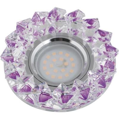 DLS-P117 стекло хром/фиолетовый, GU5.3, 10552