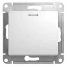 Выключатель Schneider Electric GLOSSA GSL000113 сх.1а с подсветкой, бел, 1кл.. (10/180)