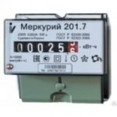 """Электросчетчик """"Меркурий 201.7"""" 5-60А, ОУ, Дин-рейка 1 тариф."""